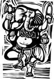 Dancing Ganesha Stock Photography