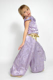 Dancing Genie. Girl pretends to be a dancing genie or belly dancer Stock Photography