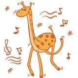 Dancing giraffe Royalty Free Stock Photo