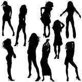 Dancing Girl 01. High detailed vector illustration Stock Images