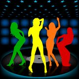 Dancing Girl 08. High detailed vector illustration Stock Images