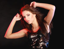 Dancing girl. Portrait of a beautiful dancing girl Royalty Free Stock Photo