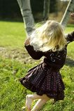 Dancing Girl. Fashionable little girl in motion Stock Photos