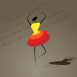 Dancing girl. Vector picture with silhouette of dancing girl vector illustration