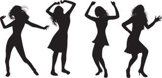 Dancing girl vector illustration