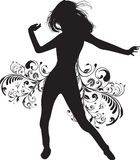 Dancing girl Royalty Free Stock Image
