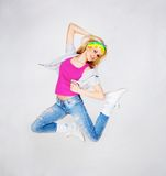Dancing girl Royalty Free Stock Photos