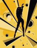 Dancing girl stock illustration