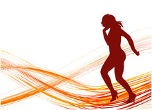 Dancing Girl. Illustrations vector retro Dancing Girl Stock Image