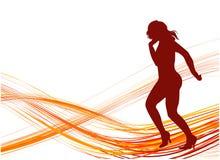 Dancing Girl. Illustrations vector retro Dancing Girl stock illustration