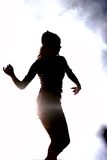 Dancing girl. Silhouette of a dancing girl Stock Photos