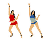 Dancing girl. Abstract vector illustration of dancing girl Royalty Free Stock Images