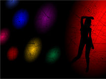 The dancing girl. On a dark background Stock Photo