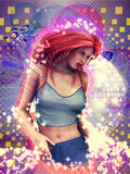 Dancing girl abstract background Stock Image