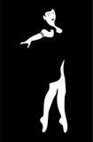Dancing girl black white Stock Photos