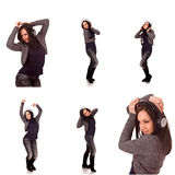 Dancing Girl collage Royalty Free Stock Photo