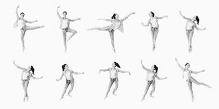 Dancing girl collage Royalty Free Stock Photos