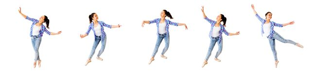 Dancing girl collage royalty free stock images