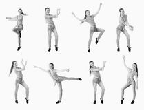 Dancing girl collage Royalty Free Stock Image