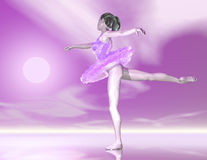 Dancing girl. Digital visualization of a dancing girl Royalty Free Stock Photos
