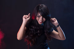 Dancing girl on disco party Royalty Free Stock Photos