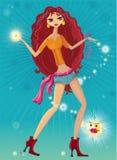 dancing girl magical sexy Стоковые Изображения RF