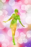 Dancing girl Stock Images