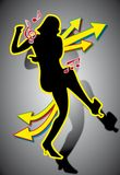 Dancing Girl. Silhouette illustration of a dancing woman Stock Images