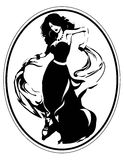 Dancing girl. Silhouette of a dancing latino girl Royalty Free Stock Image