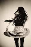 Dancing girl in skirt Royalty Free Stock Images