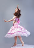 Dancing girl in the studio Royalty Free Stock Photo