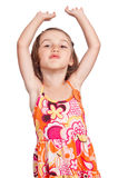 Dancing girl throwing a kiss Stock Photos