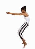 Dancing girl on tiptoe Royalty Free Stock Photo