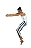 Dancing girl on tiptoe Stock Photography