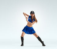 Dancing girl in uniform Royalty Free Stock Photography