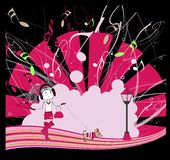 Dancing girl, vector illustration, eps10 Royalty Free Stock Image