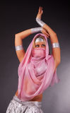 Dancing girl  in yashmak Stock Photos