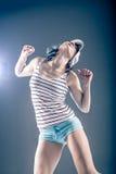 Dancing girl Stock Photography
