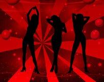 dancing girls διανυσματική απεικόνιση