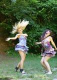 Dancing girls Royalty Free Stock Photo