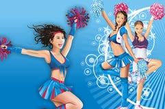 Dancing Girls royalty free illustration