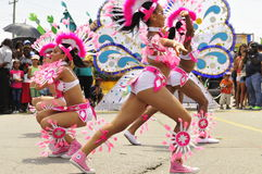Dancing girls. Young girls performing dance move at the annual caribbean festival held in toronto 21 july 2012 as thousand watch along the parade rout with music Stock Photography