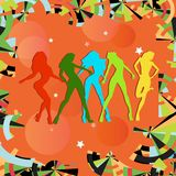 Dancing girls Stock Image