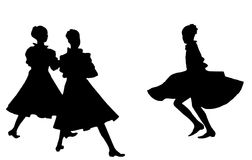 Dancing girls. Royalty Free Stock Images