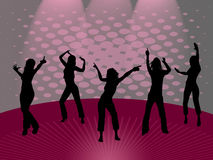 Dancing girls vector illustration