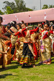 Dancing girls in Assam Royalty Free Stock Image