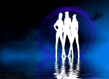Dancing Girls Background royalty free stock image