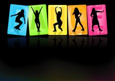 Dancing Girls. Background illustration, Vector Royalty Free Stock Photography