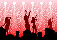 Dancing girls on club Royalty Free Stock Photo