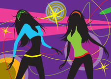 Dancing girls in a club Stock Photography